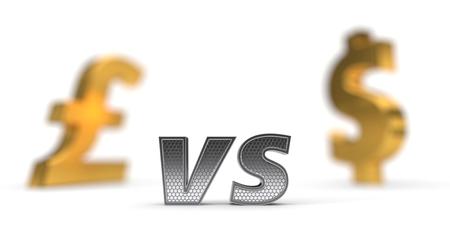 economic war concept. pound versus dollar. 3d illustration Standard-Bild - 117581573