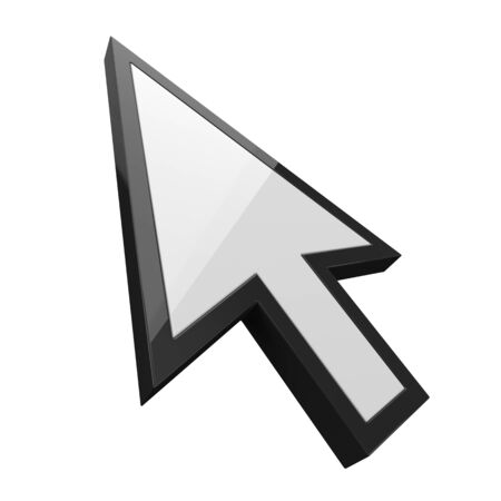 white simple cursor. suitable for internet, computer and technology themes. 3d illustration
