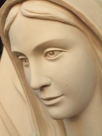 Virgin Mary Statue Closeup