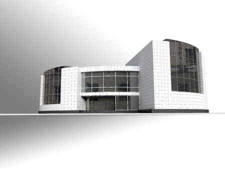 modern office: Structure, building, modern architecture, illustration, model, house, office