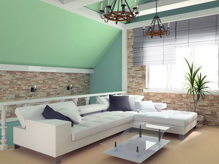 Modern interior of a room, exclusive design Stock Photo - 760062