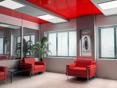 Modern interior of office, exclusive design photo