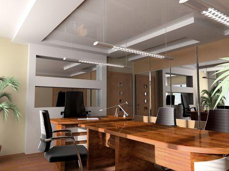 floor lamp: Modern interior of office, exclusive design