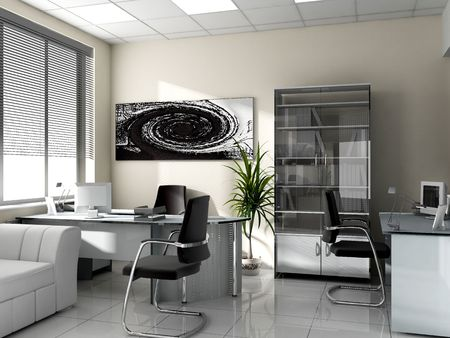 modern office: Modern interior of office, exclusive design  Stock Photo