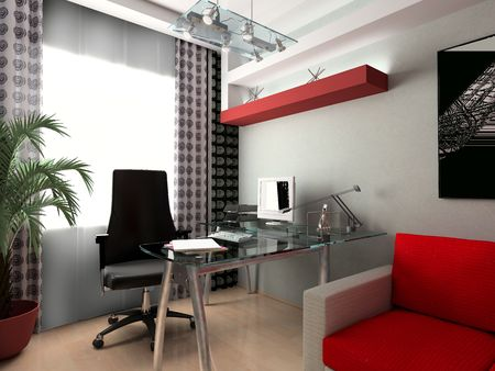 Modern interior of office, exclusive design  Stock Photo