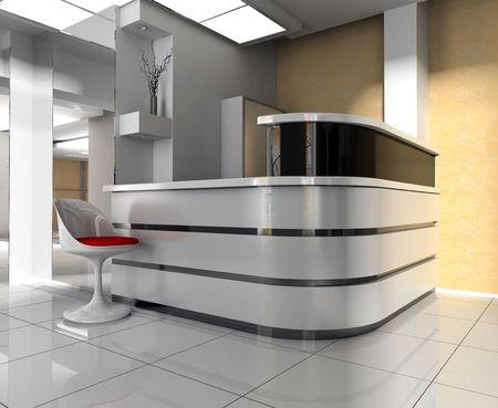 Modern interior of office photo