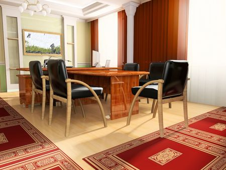 Classical office in ADDEN 3d image photo