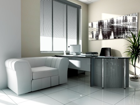 luster: Modern interior of office