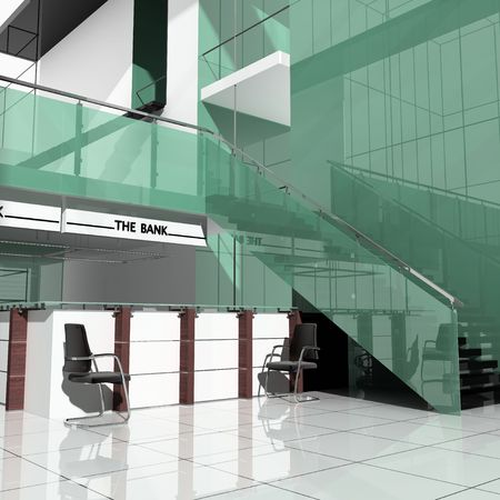 Modern office interior  3 d image visualization Stock Photo - 2596501
