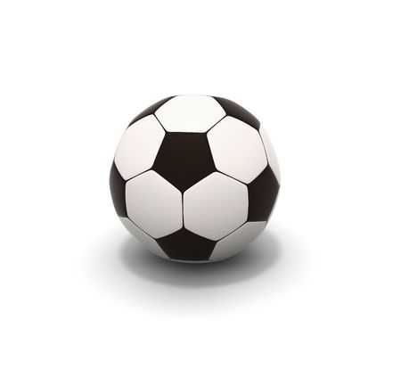 socca: soccer ball on white background 3d image