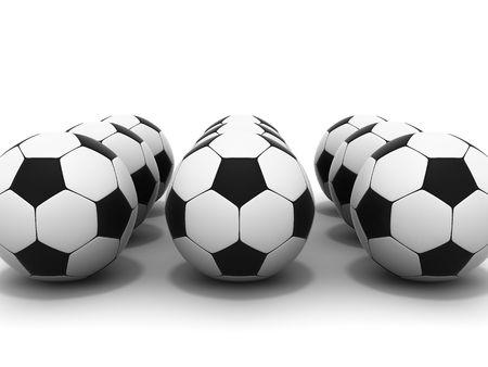 socca: serie pallone da calcio 3d immagine