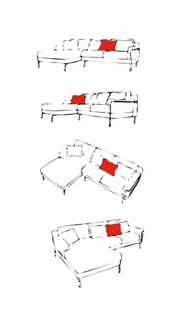 The isolated  sofa a vector illustration Stock Illustration - 2596505