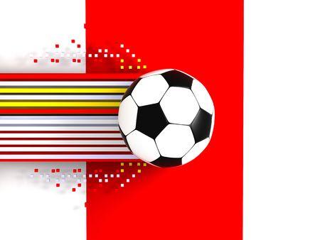 socca: pallone da calcio a sfondo 3d immagine