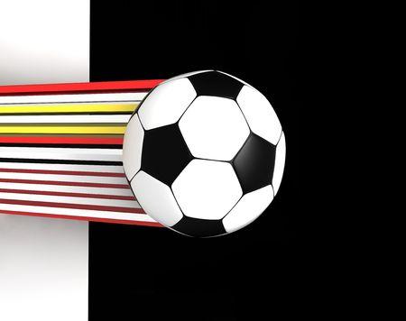 socca: pallone da calcio in bianco e nero su sfondo 3d immagine