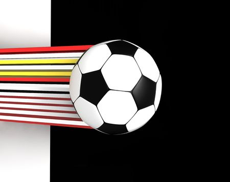 socca: soccer ball on monochrome background 3d image