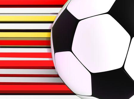 socca: pallone da calcio a strisce sfondo 3d immagine