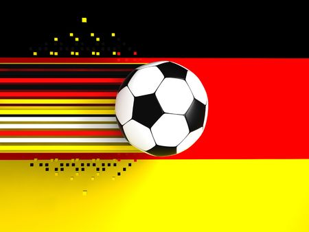 socca: soccer ball on background of the flag germany