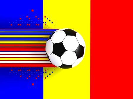 socca: pallone da calcio a sfondo della bandiera