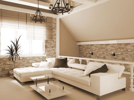 Modern interior of a room, exclusive design Stock Photo - 3172130