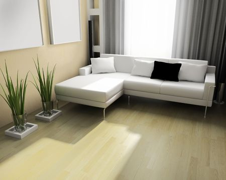light room modern 3 d exclusive design Stock Photo - 3160940