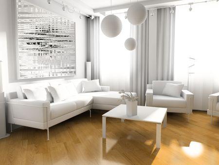 light room modern 3 d exclusive design Stock Photo - 3270854