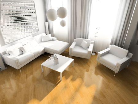 light room modern 3 d exclusive design Stock Photo - 3270863