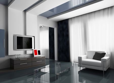 main room modern 3 d exclusive design Stock Photo - 3270855