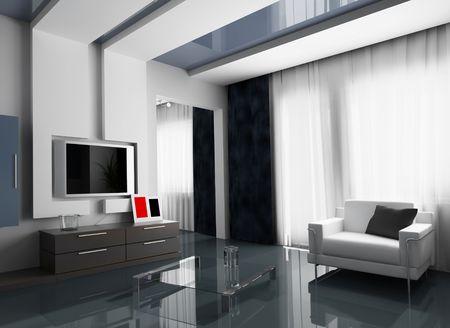 main room modern 3 d exclusive design Stock Photo - 3270855