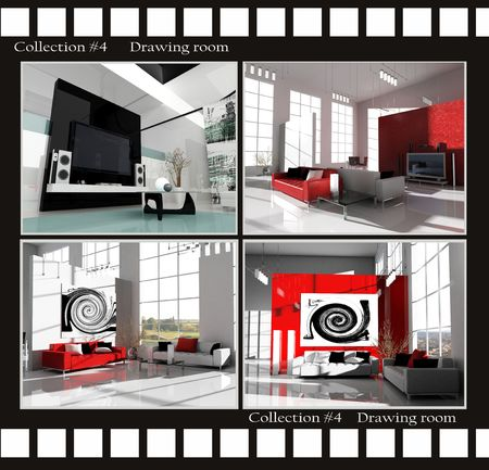 Collection images of Drawing rooms 3d render Stock Photo - 3422543