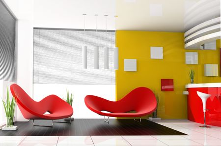 place for rest in apartment 3 d image Stock Photo - 3703476