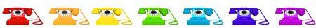 retro telephone on white background 3d image photo