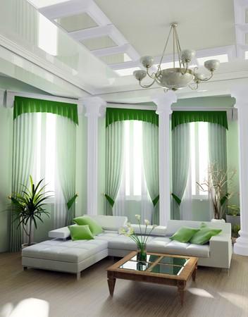 city living: Modern interior of a room 3d image