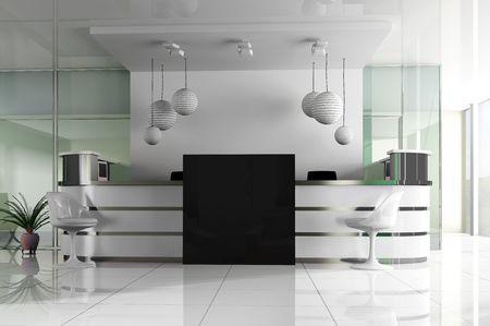 hotel reception: Hall of Hotels in agoy 3D-Bild