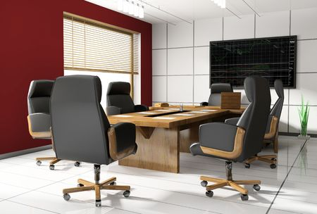 Room of negotiation at office in Verde 3d image