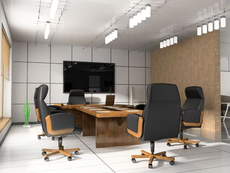 small room: Modern room for meetings 3d render