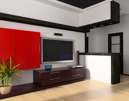 Modern drawing room a room exclusive design 3d image photo