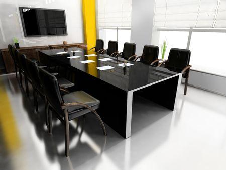 new office space: Modern room for meetings 3d render