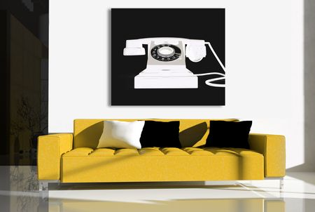 Furniture in a modern interior 3d image Stock Photo - 5998491