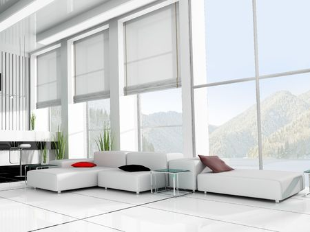 penthouse: modern interior office place for rest 3d image