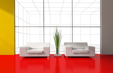 modern inter place for rest 3d image Stock Photo - 6116249