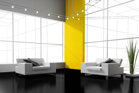 modern interior place for rest 3d image Stock Photo - 6323601