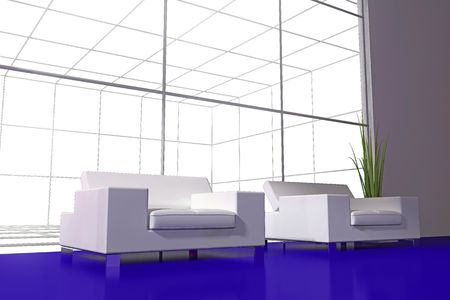 modern interior place for rest 3d image Stock Photo - 6323598