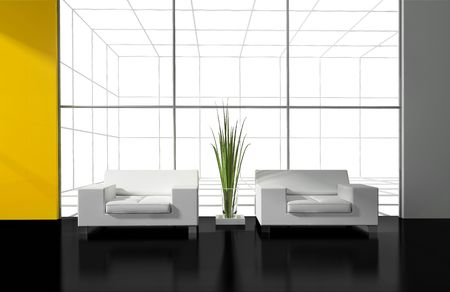 modern interior place for rest 3d image Stock Photo - 6323595