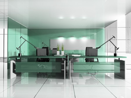 domestic room: Workplace at modern office 3 d image