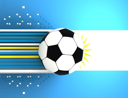 socca: soccer ball on background of the flag argentine Stock Photo