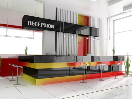 Hall of hotel in agoy 3d image Stock Photo - 7490553