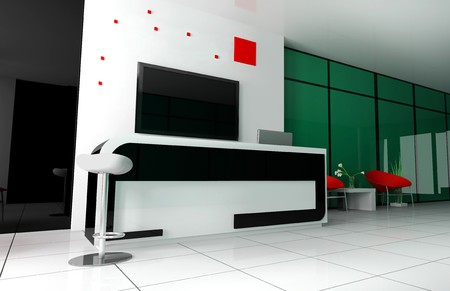 Hall of hotel in yokeds 3d image Stock Photo - 7679461