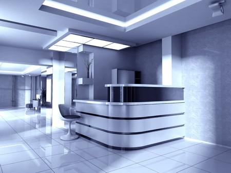 interior lighting: Modern interior of office