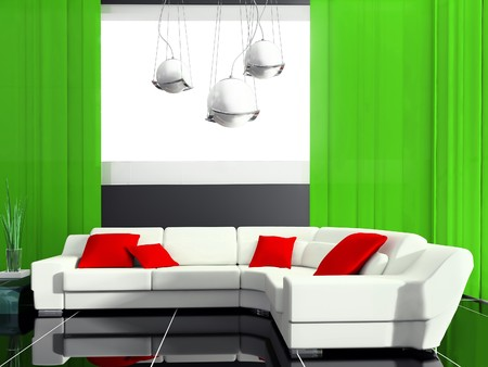 modern drawing room 3d image Stock Photo - 7805955