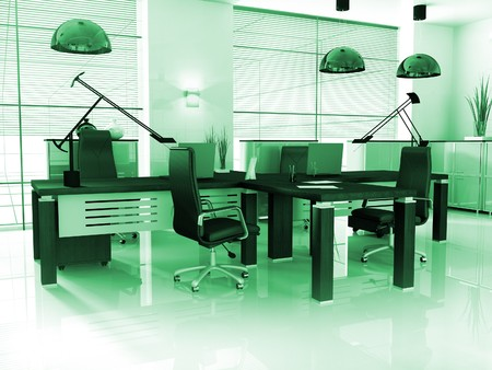 new modern office 3d rendering photo